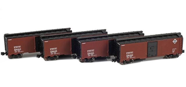 AZL 914305-1 ERIE 40' AAR Boxcar | 4-Car Set