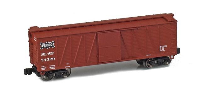 AZL 903101-1 40' SLSF (Frisco) Outside Braced Boxcar #34329
