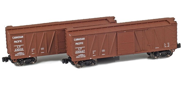 AZL 903178-1 40' CP Outside Braced Boxcar | 2-Car Set