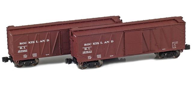 AZL 903179-1 40' Rock Island Outside Braced Boxcar | 2-Car Set