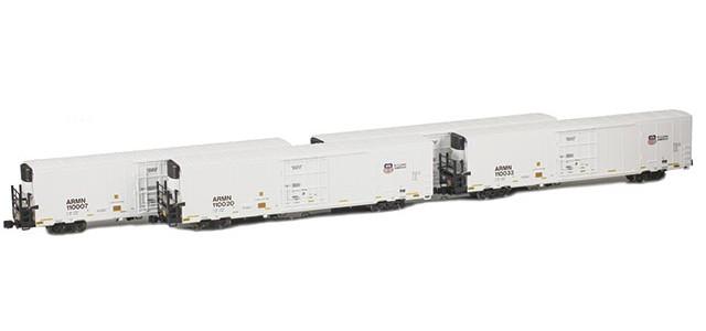 AZL 904001-1 Trinity 64' Reefer ARMN/UP 4-Pack | Set 1
