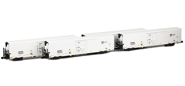 AZL 904002-1 Trinity 64' Reefer ARMN/UP 4-Pack | Set 1