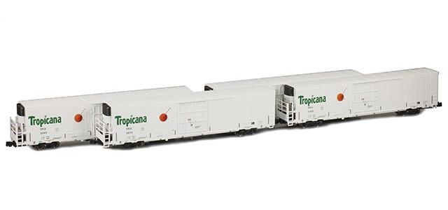 AZL 904003-1 Trinity 64' Reefer Tropicana TPIX 4-Pack | Set 1