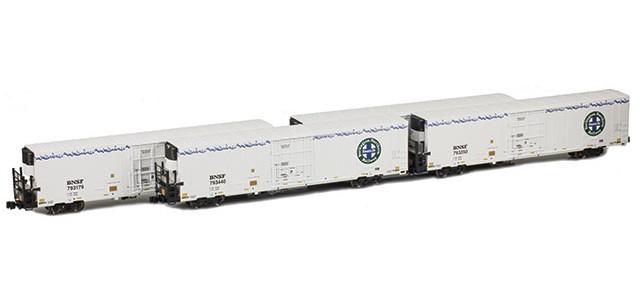 AZL 904004-1 Trinity 64' Reefer BNSF 4-Pack | Set 1