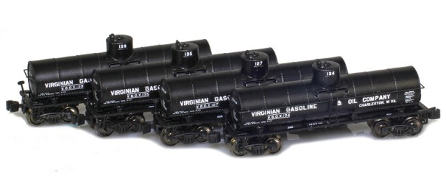 AZL 905001-1 Virginian 8,000 Gallon Tank Car 4-Pack