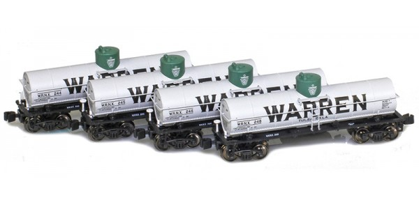 AZL 905002-1 Warren WRNX 8,000 Gallon Tank Car 4-Pack