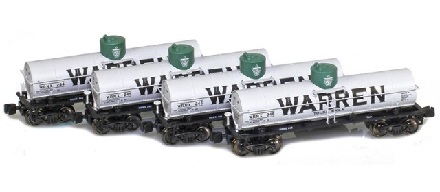 AZL 905002-1 Warren WRNX 8,000 Gallon Tank Car 4-Pack