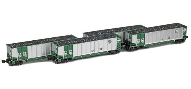 AZL 90109-1 Bethgon Coal Porter BNSF (Green) | Set 1