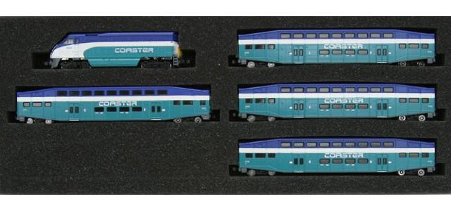 AZL 7004-1 F59PHI Coaster Full Set | Bombardier Cars #3001