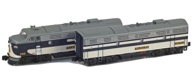 AZL 63009-1 Wabash EMD F7 A-B Set