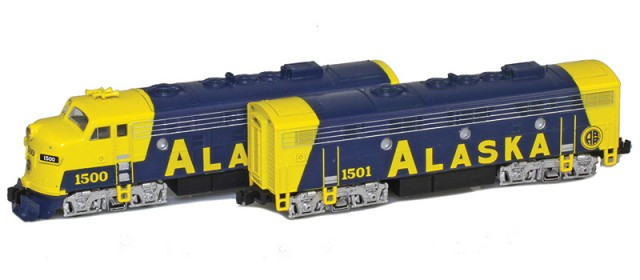 AZL 63011-1 Alaska RR EMD F7 A-B Set