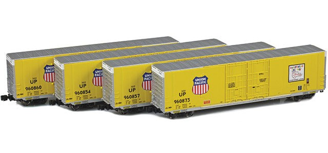 AZL 914200-1 Union Pacific | Greenville 60' Boxcar 4-Pack