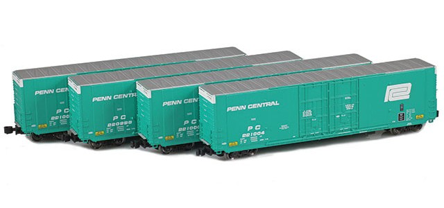 AZL 914205-1 Penn Central | Greenville 60' Boxcar 4-Pack