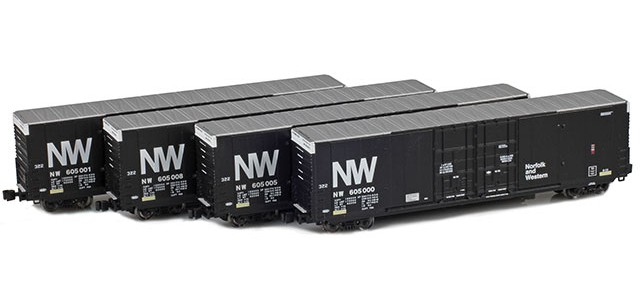 AZL 914203-1 N&W | Greenville 60' Boxcar 4-Pack