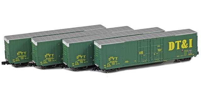 AZL 914204-1 DT&I | Greenville 60' Boxcar 4-Pack