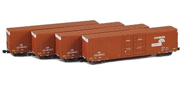 AZL 914206-1 Conrail | Greenville 60' Boxcar 4-Pack