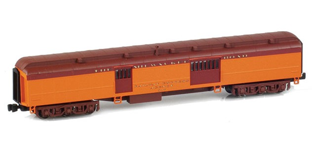 AZL 71631-1 THE MILWAUKEE ROAD Heavyweight Baggage Car RAILWAY EXPRESS AGENCY #817
