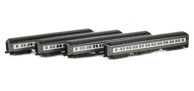 AZL 71702-0-Set Paired Window Coach | 4-Car Set