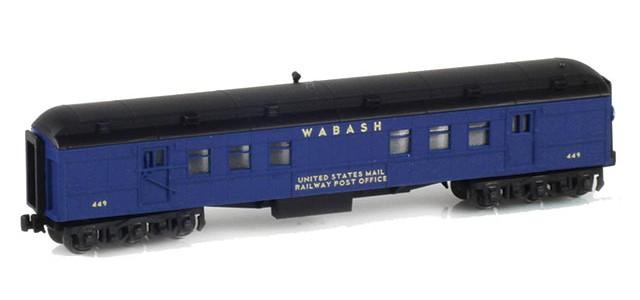 AZL 71911-1 WABASH RPO US MAIL RAILWAY POST OFFICE