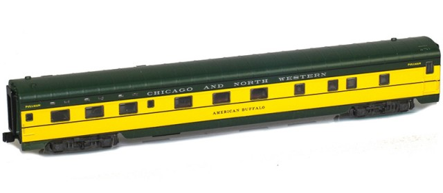 AZL 73105-1 CHICAGO AND NORTH WESTERN Sleeper 6-6-4 | AMERICAN BUFFALO Lightweight Passenger Car