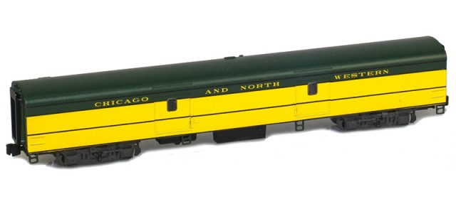 AZL 73605-0 CHICAGO AND NORTH WESTERN Baggage Lightweight Passenger Car