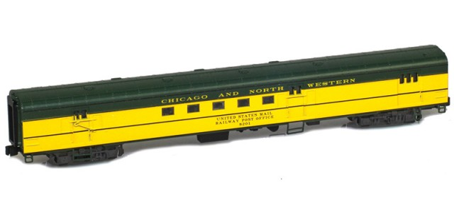 AZL 73905-1 CHICAGO AND NORTH WESTERN Mail RPO #8201 Lightweight Passenger Car