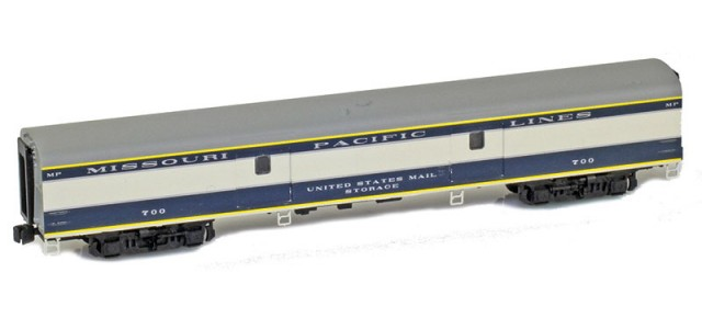 AZL 73614-1 MISSOURI PACIFIC | THE EAGLE Baggage MISSOURI PACIFIC LINES UNITED STATES MAIL STORAGE #700 Lightweight Passenger Car
