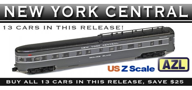 AZL NYC-13 NEW YORK CENTRAL Lightweight Passenger Car | Complete 13-Car Set