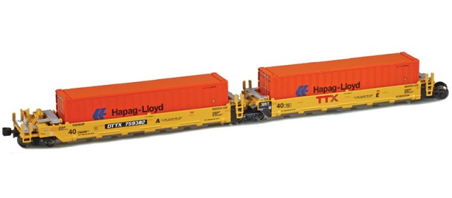 AZL 906503-4HL DTTX (New TTX Logo) MAXI-I Set 759382 | 5 HAPAG-LLOYD Containers