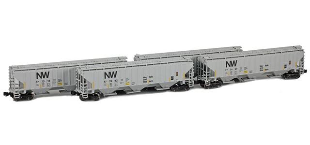 AZL 90931-1 N&W PS-2 Covered Hopper   4-Car Set