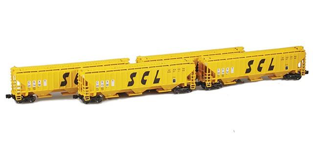 AZL 90936-1 SCL (CSXT) PS-2 Covered Hopper   4-Car Set