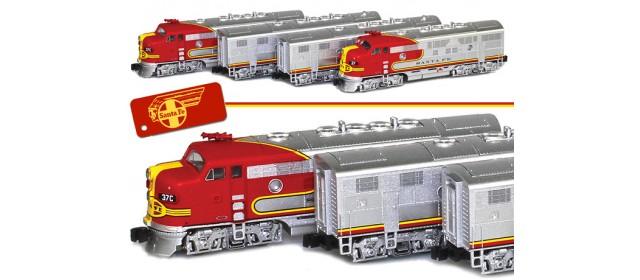 AZL 63001-9_SET ATSF Super Chief F7 A-B-B-A Set