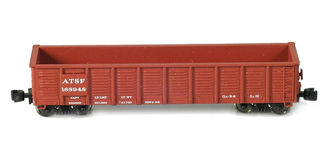 AZL 90248-1 Waffle Gondola ATSF | 4-Car Set | Set 1